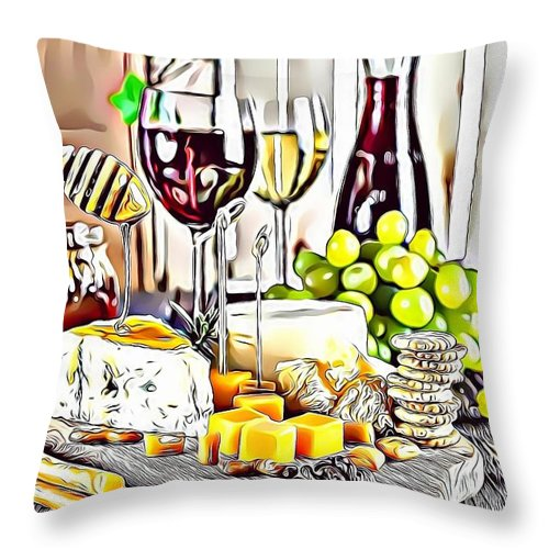 Urban Throw Pillow featuring the digital art 1 Eat Me Now by Leo Rodriguez