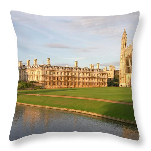 Shadow Throw Pillow featuring the photograph England, Cambridge, Cambridge by Andrew Holt