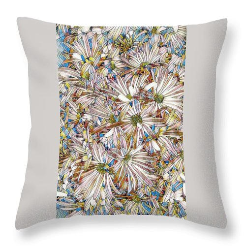 Floral Throw Pillow featuring the photograph Floral Art by Steven Wills
