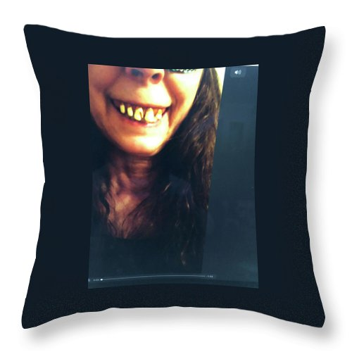 Monster Throw Pillow featuring the photograph Halloween Witch by Laureen Sabella