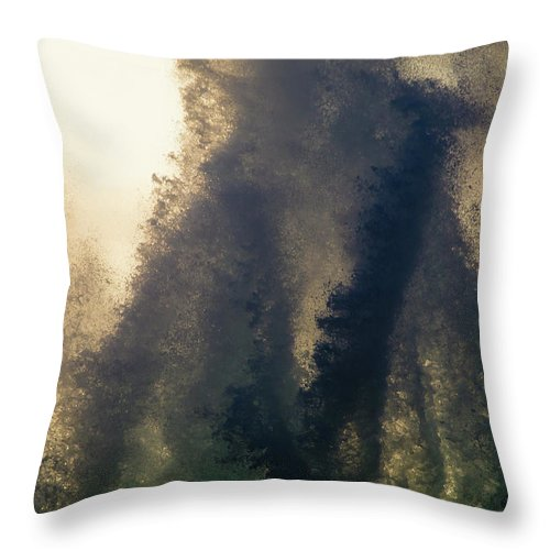 Kona Throw Pillow featuring the photograph High Surf Explosion by Christopher Johnson