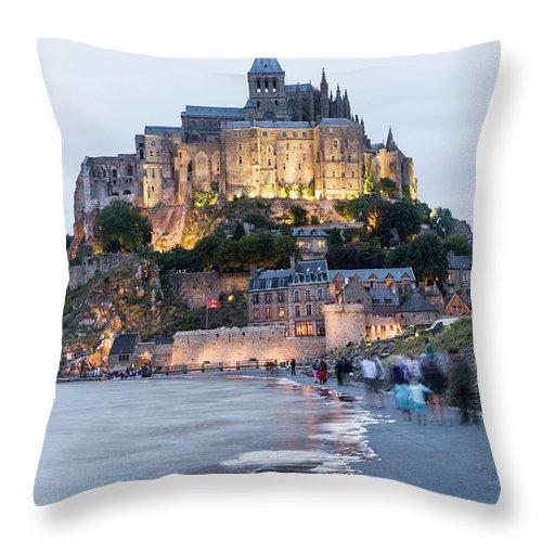 Mont Saint-michel Throw Pillow featuring the photograph Le Mont Saint Michel, Normandy, France by John Harper