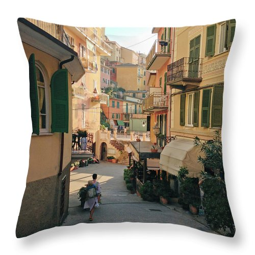 Toddler Throw Pillow featuring the photograph Manarola Italy by M Swiet Productions