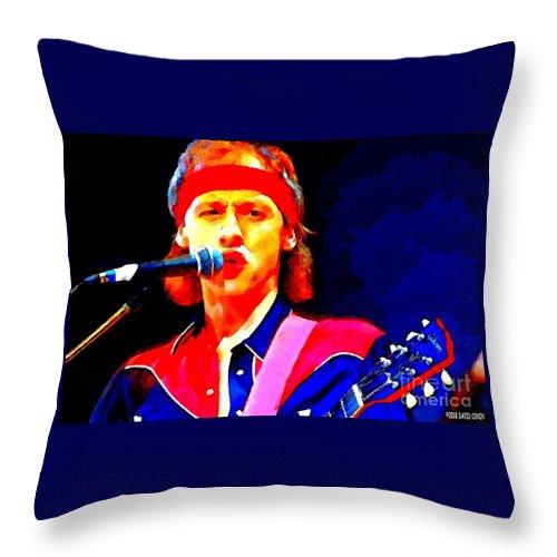 David Conin Art Throw Pillow featuring the digital art Mark Knopfler by David Conin