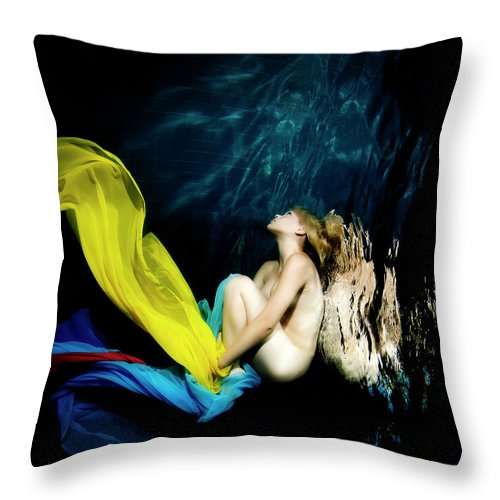 Ballet Dancer Throw Pillow featuring the photograph Nymph by 1001nights