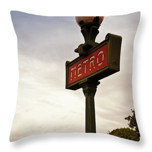 Outdoors Throw Pillow featuring the photograph Paris, France by Buena Vista Images