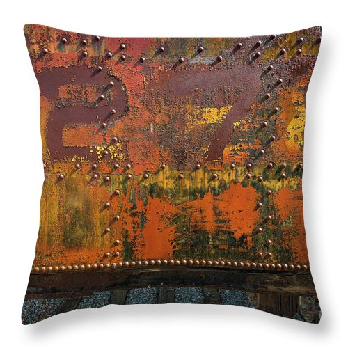 Railcar Throw Pillow featuring the photograph Railcar Abstract by Doug Sturgess