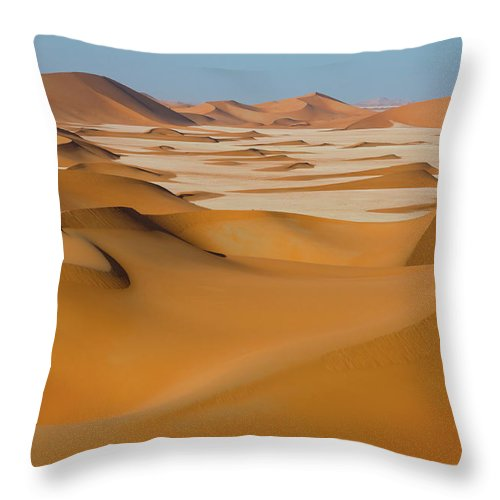 Tranquility Throw Pillow featuring the photograph Rub Al-khali Empty Quarter by All Rights Reserved For Ahmed Al-shukaili