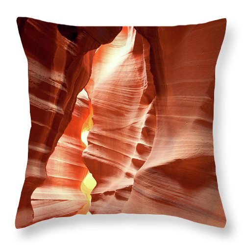 Toughness Throw Pillow featuring the photograph Slot Canyon by Colin Sands