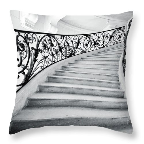 Steps Throw Pillow featuring the photograph Staircase In Paris by Nikada