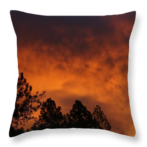Red Throw Pillow featuring the photograph Sunrise by Cathy Harper