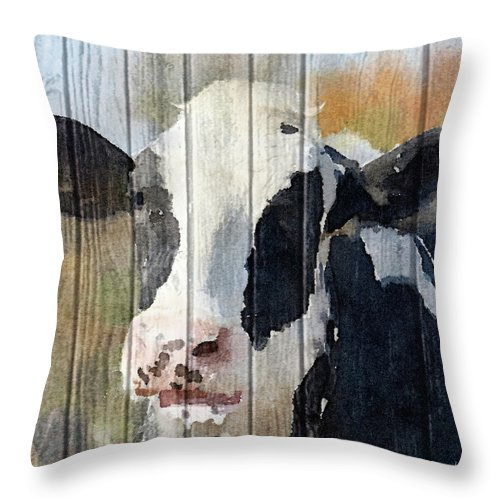 Sweet Throw Pillow featuring the painting Sweet Daisy I by Andi Metz