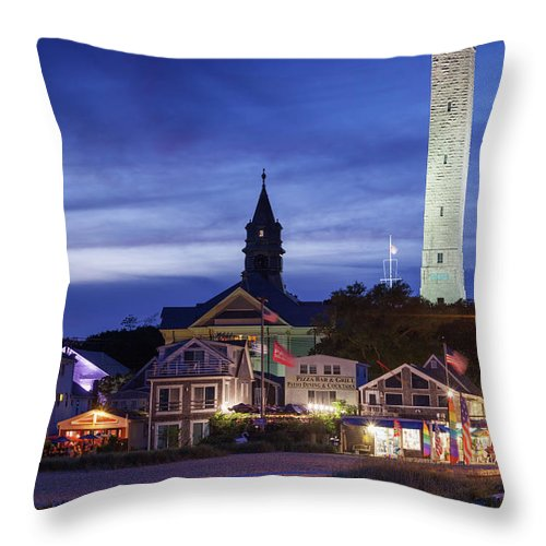 Water's Edge Throw Pillow featuring the photograph Usa, Massachusetts, Cape Cod by Walter Bibikow