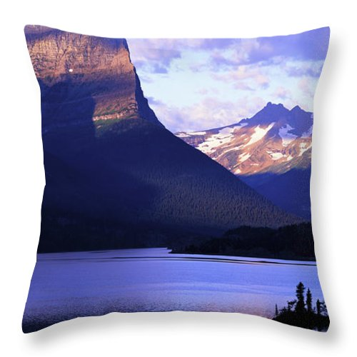 Scenics Throw Pillow featuring the photograph Usa, Montana, Glacier Np, Mountains by Paul Souders