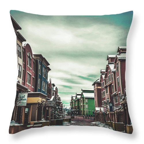 Park City Throw Pillow featuring the photograph Winter Morning - Park City, Utah by Pixabay