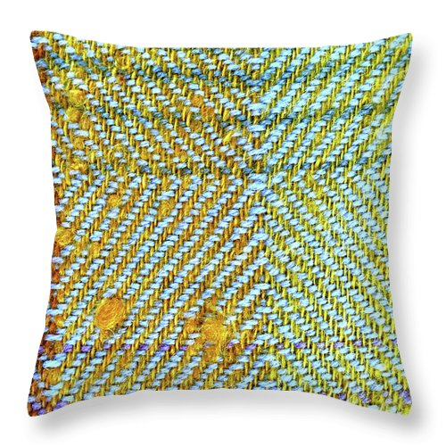 Abstract Throw Pillow featuring the photograph Wool Textile Background by Tom Gowanlock