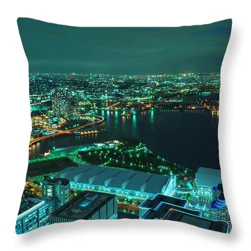 Yokohama Throw Pillow featuring the photograph Yokohama by Copyright Artem Vorobiev