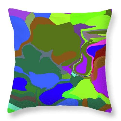 Walter Paul Bebirian Throw Pillow featuring the digital art 10-19-2008abcdefg by Walter Paul Bebirian