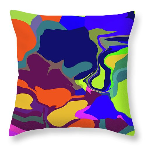 Walter Paul Bebirian Throw Pillow featuring the digital art 10-19-2008abcdefghijklmno by Walter Paul Bebirian
