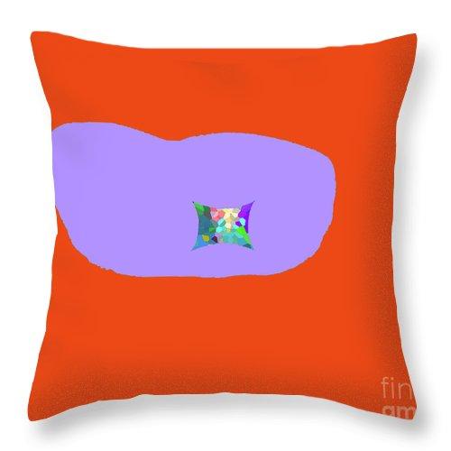 Walter Paul Bebirian Throw Pillow featuring the digital art 11-18-2009ka by Walter Paul Bebirian