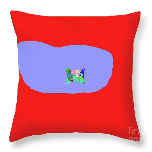 Walter Paul Bebirian Throw Pillow featuring the digital art 11-18-2009kab by Walter Paul Bebirian