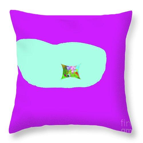 Walter Paul Bebirian Throw Pillow featuring the digital art 11-18-2009kabcde by Walter Paul Bebirian