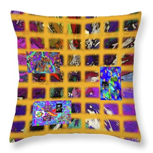 Walter Paul Bebirian Throw Pillow featuring the digital art 12-24-2017c by Walter Paul Bebirian