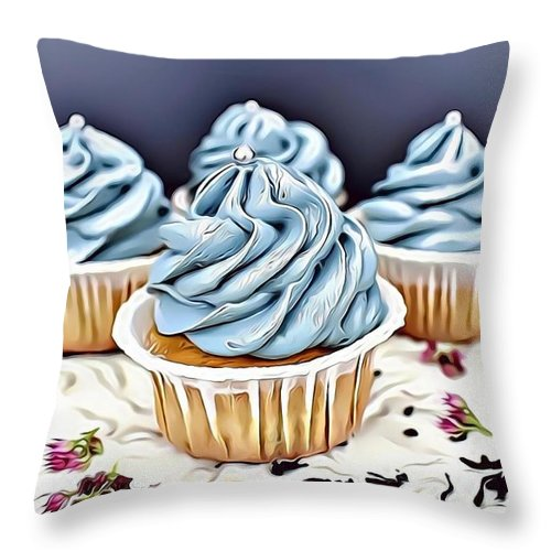 Urban Throw Pillow featuring the digital art 16 Eat Me Now by Leo Rodriguez