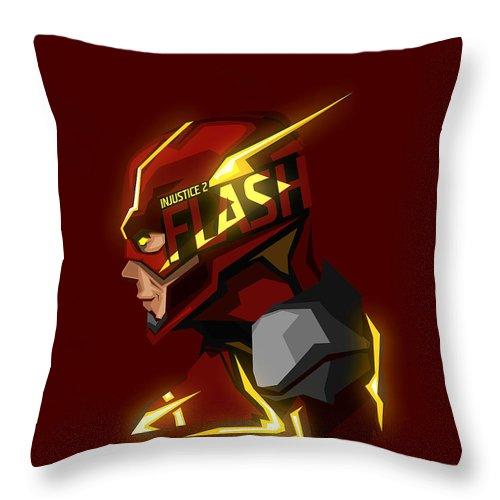 Flash Throw Pillow featuring the digital art Flash by Geek N Rock