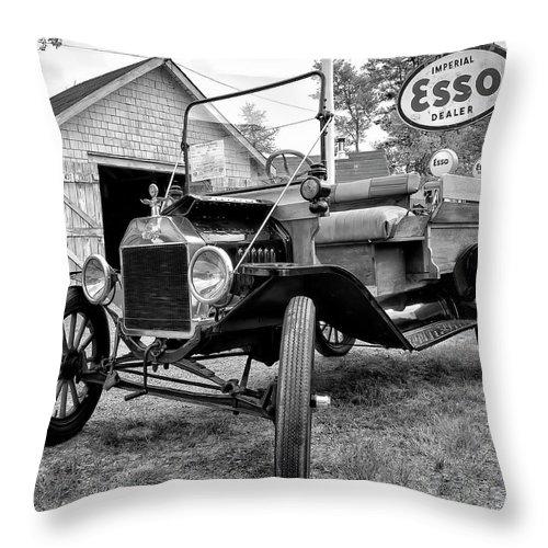 1915 Throw Pillow featuring the digital art 1915 Ford Model T Truck by Ken Morris