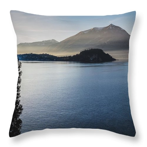 Scenics Throw Pillow featuring the photograph Como District Lake by Deimagine