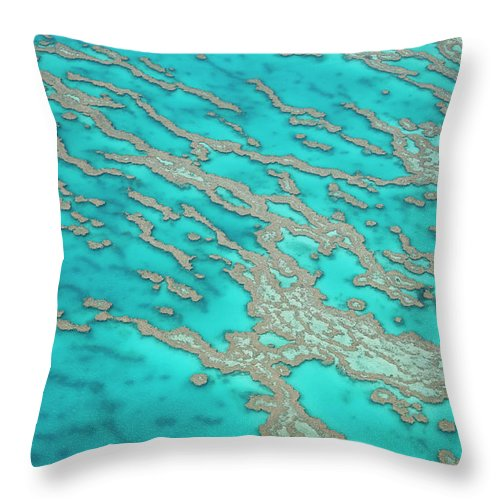 Tranquility Throw Pillow featuring the photograph Great Barrier Reef, Queensland by Peter Adams