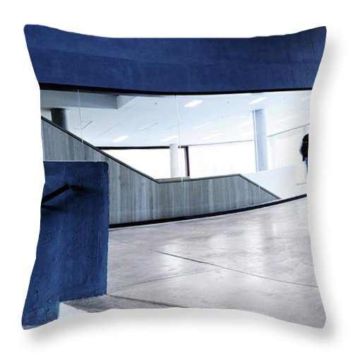 Pedestrian Throw Pillow featuring the photograph Modern Architecture by Nikada