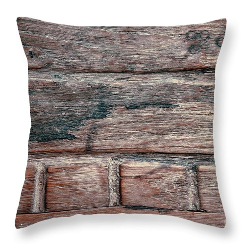Abstract Throw Pillow featuring the photograph Old Wood Background by Tom Gowanlock
