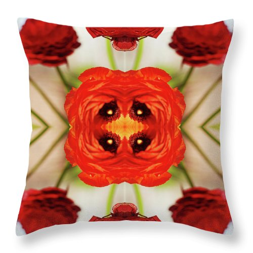 Tranquility Throw Pillow featuring the photograph Ranunculus Flower by Silvia Otte