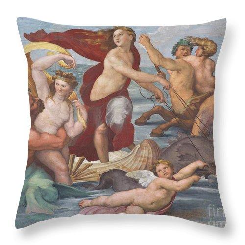 1512 Throw Pillow featuring the photograph Triumph Of Galatea, Detail by Peter Barritt