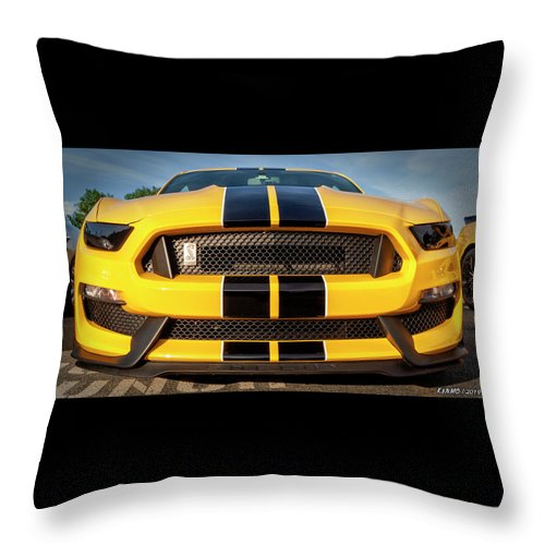 2018 Throw Pillow featuring the digital art 2018 Ford Shelby Mustang by Ken Morris