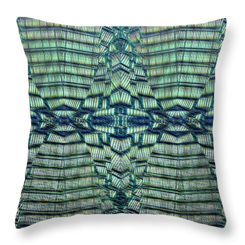 Abstract Throw Pillow featuring the photograph Geometric Pattern Illustration by Tom Gowanlock