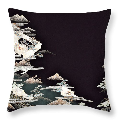 Throw Pillow featuring the digital art Spirit of Japan T54 by Miho Kanamori