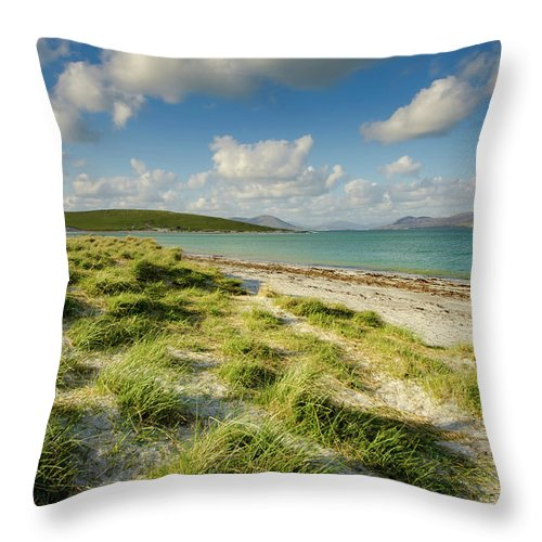 Berneray Throw Pillow featuring the mixed media Berneray by Smart Aviation