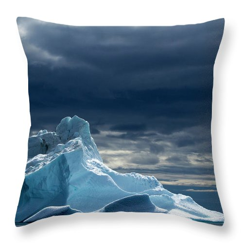 Tranquility Throw Pillow featuring the photograph Icebergs, Disko Bay, Greenland by Paul Souders