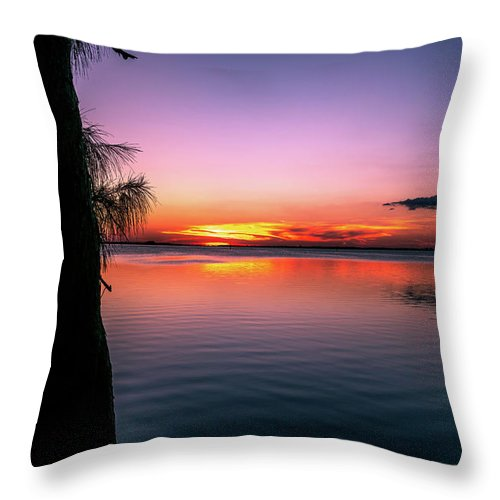 Bay Throw Pillow featuring the photograph Spectacular Sunset by Ric Schafer