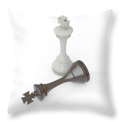 Chess Throw Pillow featuring the digital art Chess Kings by Allan Swart