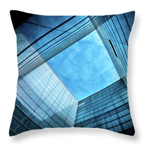 Office Throw Pillow featuring the photograph Modern Glass Architecture by Nikada