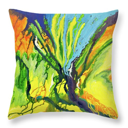 Art Throw Pillow featuring the digital art Abstract Background by Balticboy