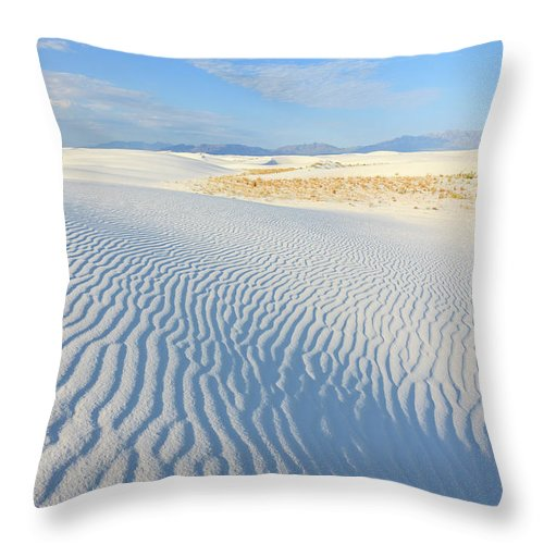 White Sands National Monument Throw Pillow For Sale By Michele Falzone