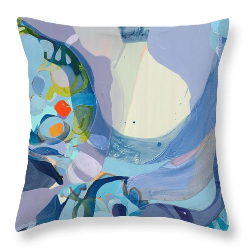 Abstract Throw Pillow featuring the painting 70 Degrees by Claire Desjardins
