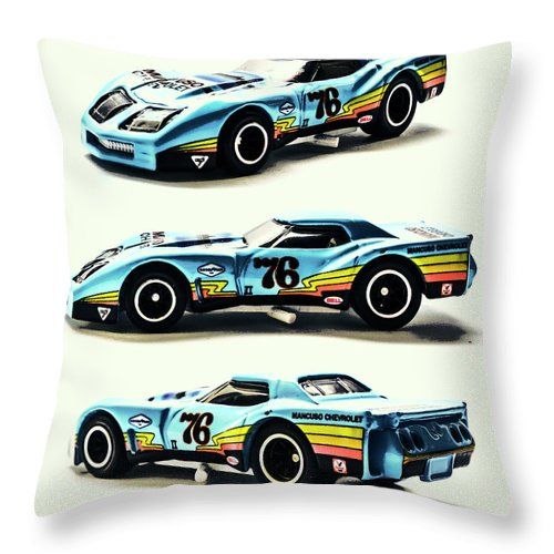 Corvette Throw Pillow featuring the photograph 76 by Jorgo Photography - Wall Art Gallery