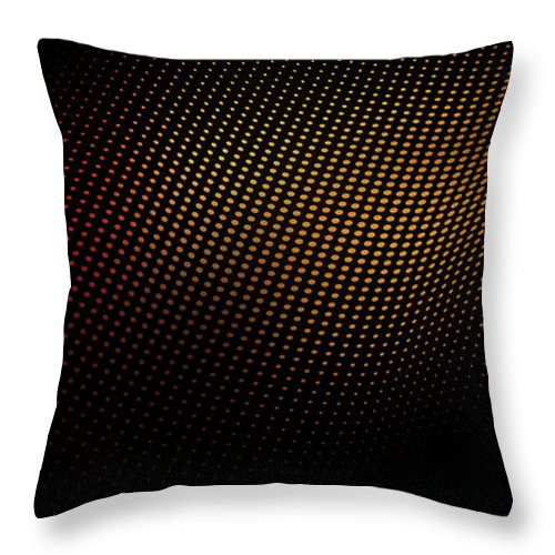 Shadow Throw Pillow featuring the digital art A Wave Pattern Of Dots Over Shadow by Ralf Hiemisch
