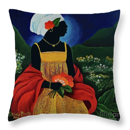 Haiti Throw Pillow featuring the painting Abigail by Patricia Brintle